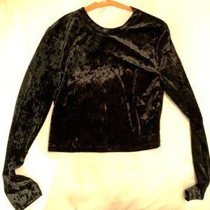 Velvet black long sleeve hm
